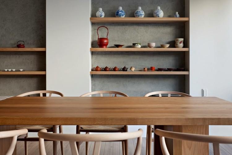 decoracion de interiores vajilla madera