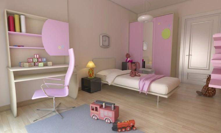 decoracion dormitorios infantiles armario rosa ideas