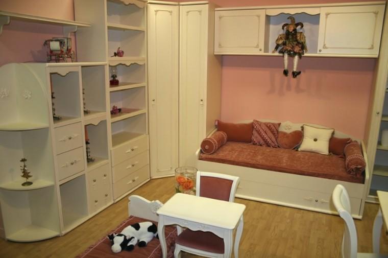 decoracion dormitorios infantiles armarios madera ideas