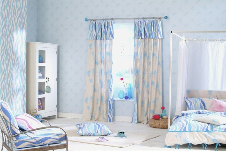 decoracion dormitorio infantiles color azul marino ideas