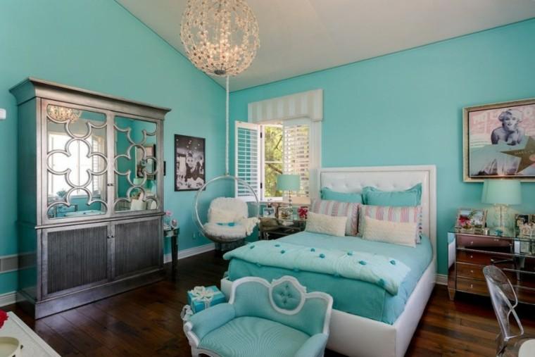 decoracion dormitorio infantiles color verde claro ideas