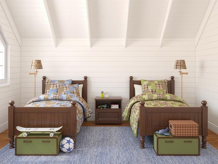 decoracion dormitorio infantiles dosa camas madera ideas