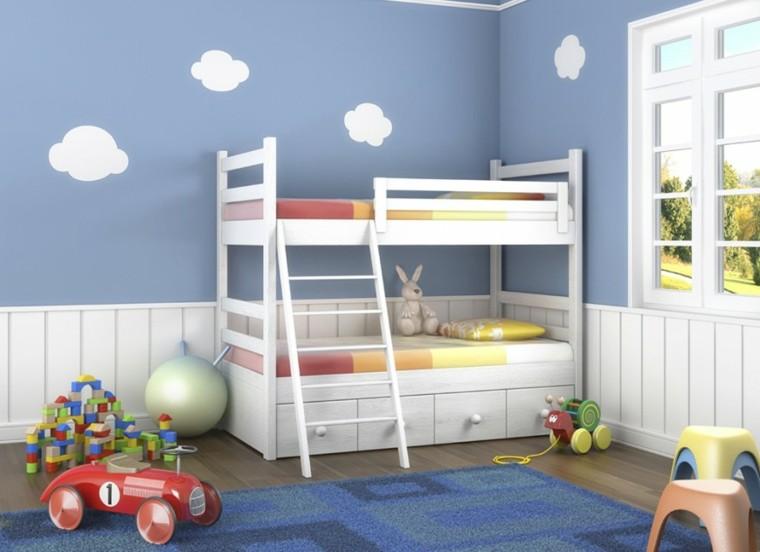 decoracion dormitorio infantiles litersas blancas ideas
