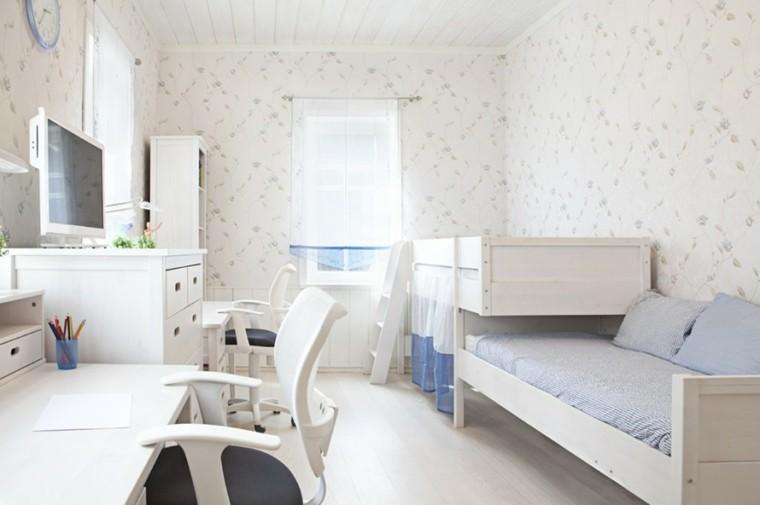 decoracion dormitorio infantiles muebles blancos ideas