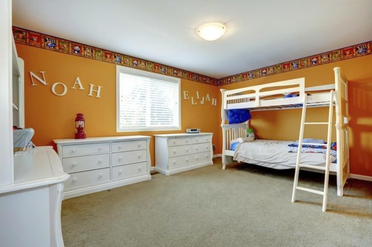 decoracion dormitorio infantiles paredes amarillas ideas