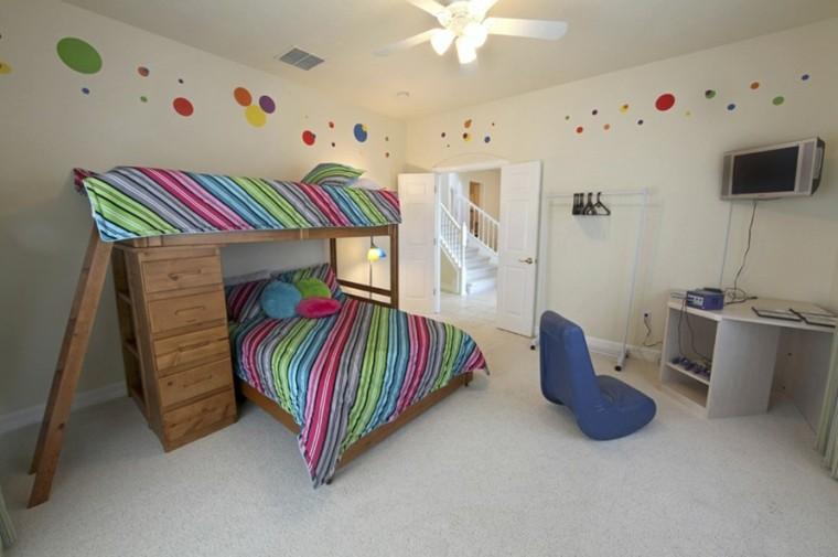 decoracion dormitorio infantiles paredes blancas ideas