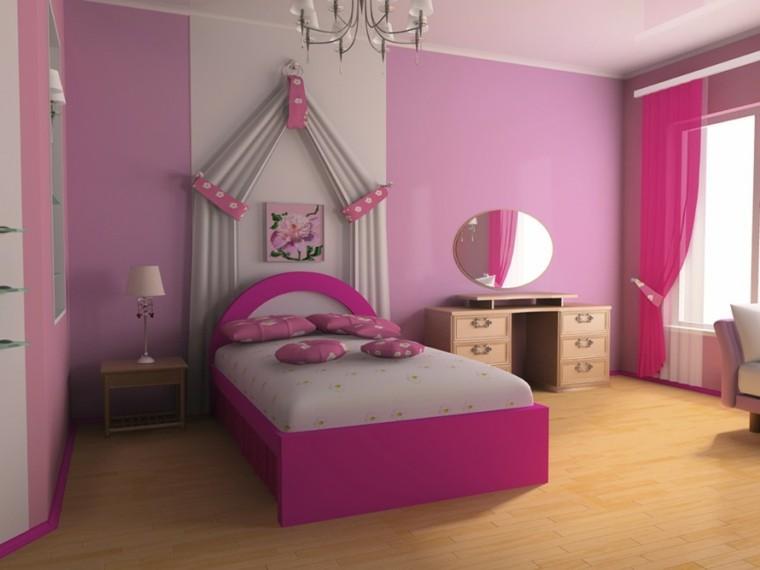 decoracion dormitorio infantiles princesa rosa ideas