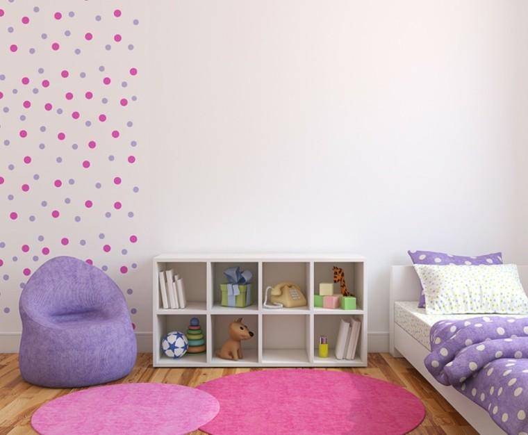 decoracion dormitorio infantiles puntos pared ideas