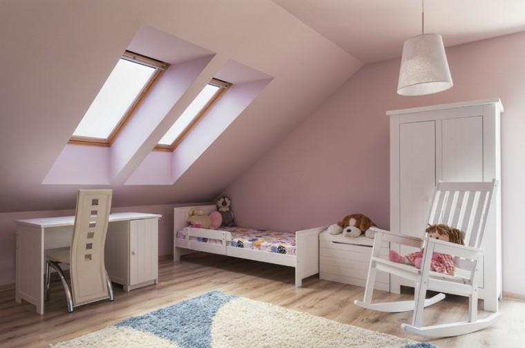 decoracion dormitorio infantiles silla blanca ideas