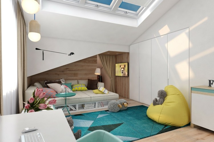 decoracion dormitorios infantiles alfombras cojines osos