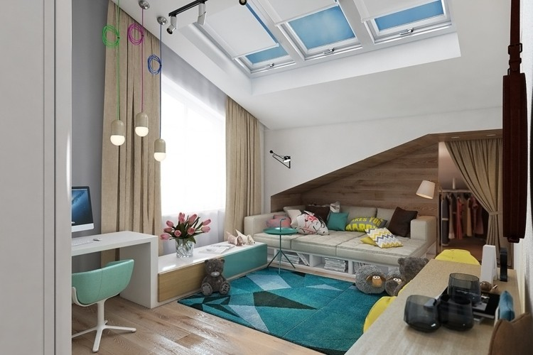 decoracion dormitorios infantiles alfombras variaciones colores