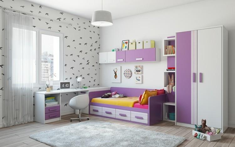 decoracion dormitorios infantiles alfombras paredes
