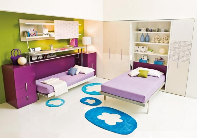 decoracion dormitorios infantiles azules esferas verde
