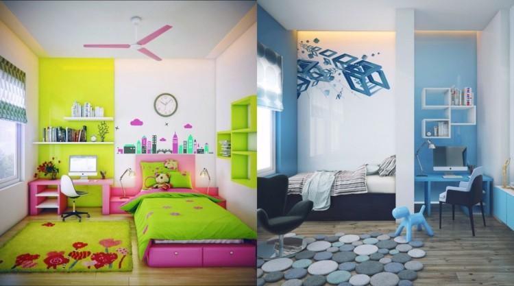 decoracion dormitorios infantiles denderos verde