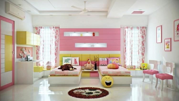 decoracion dormitorios infantiles rojo luminoso blanco