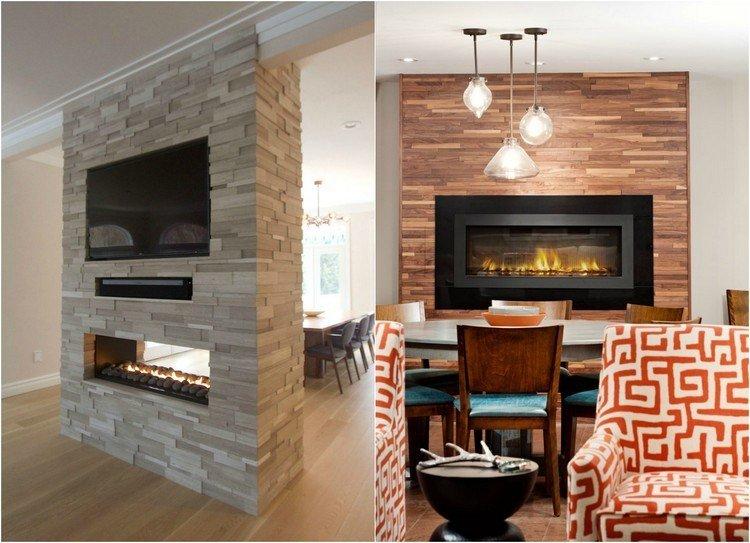 chimeneas modernas decoracion fuego paredes