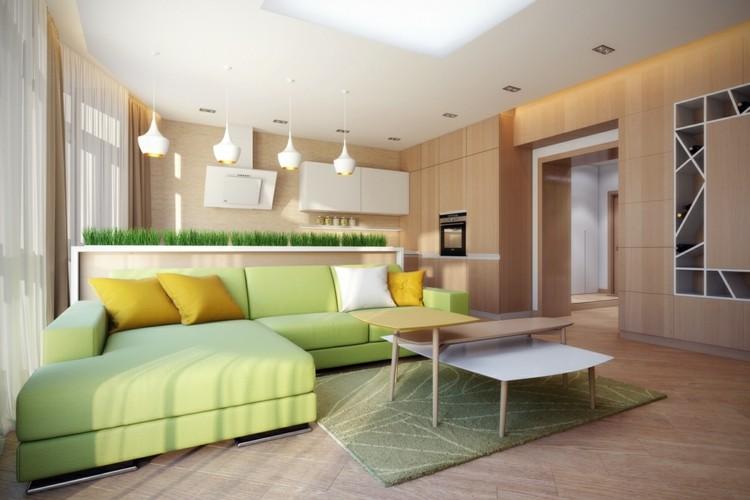 decoracion interiores cojines moderno verdes