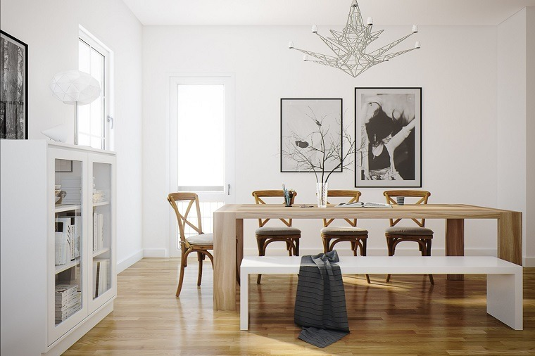 Decoracion interiores 37 ideas de comedores modernos - Bancos para comedor ...