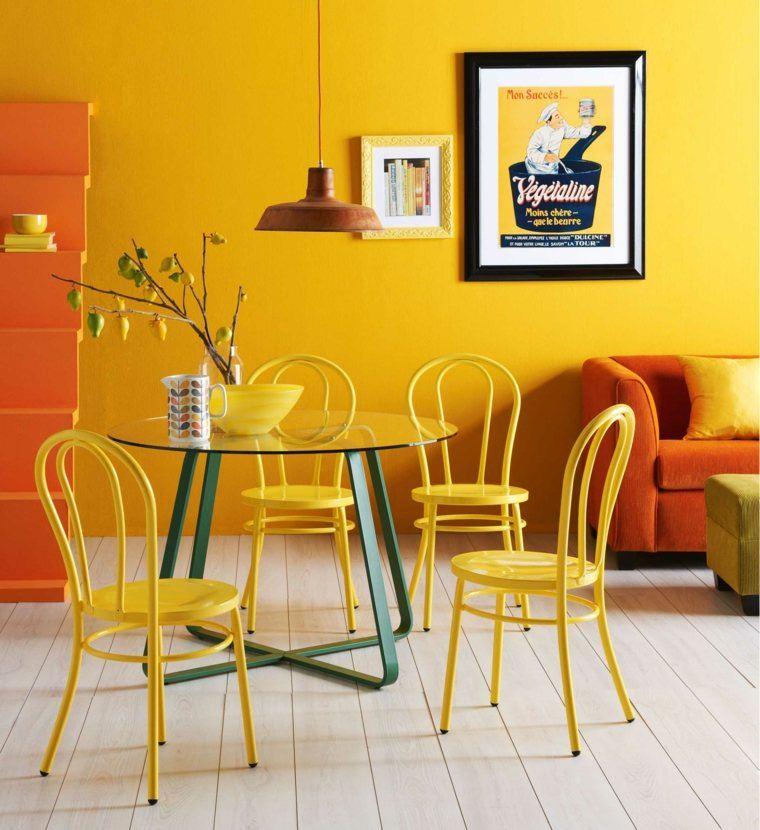 decoracion de interiores comedor colores vibrantes ideas