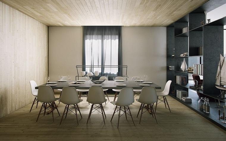 decoracion interiores comedor modernos sillas blancas ideas
