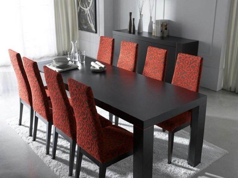 decoracion de interiores comedor sillas rojas ideas