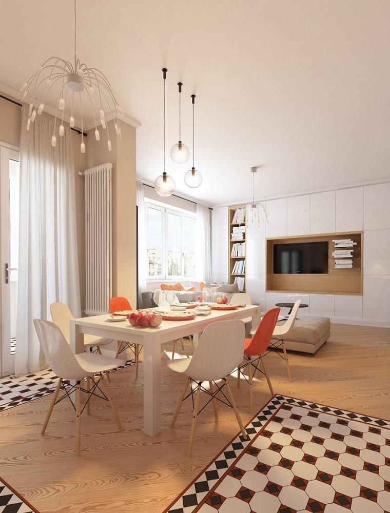 decoracion de interiores comedor suelo madera ideas