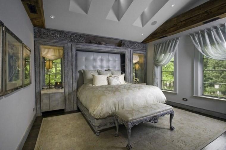 ideas moderna dormitorio color gris muebles paredes