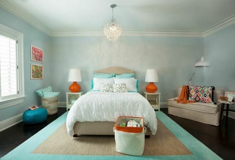 ideas modernas dormitorio colores vibrantes azul