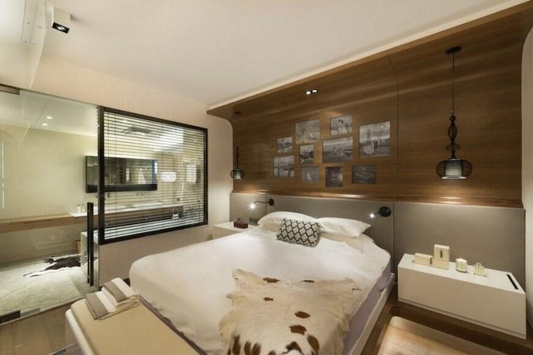 ideas modernas dormitorio pared madera fotos