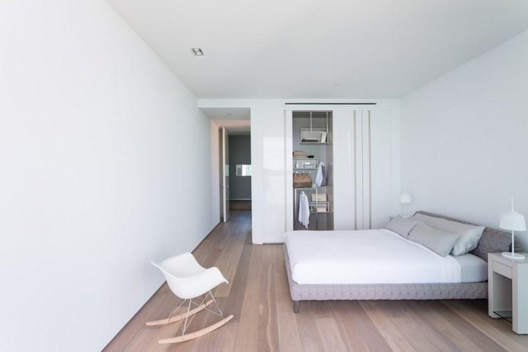 decoracion moderna dormitorio sillas blanca ideas