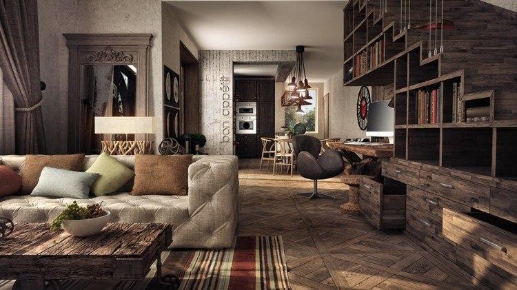 Decoracion Rustica Interiores Calidos De Acentos Naturales - Decoracion-de-interiores-rusticos