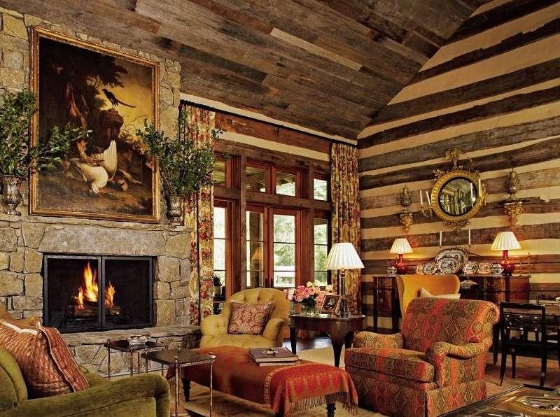 decoracion rustica salon colores preciosos ideas
