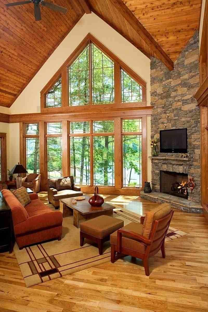 decoracion rústica salon madera anade vibracion natural ideas