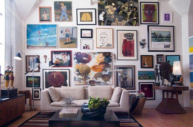 decoracion salon cuadros preciosos pared ideas