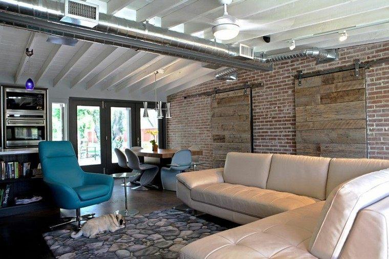 decoracion salon estilo industrial amplio ideas
