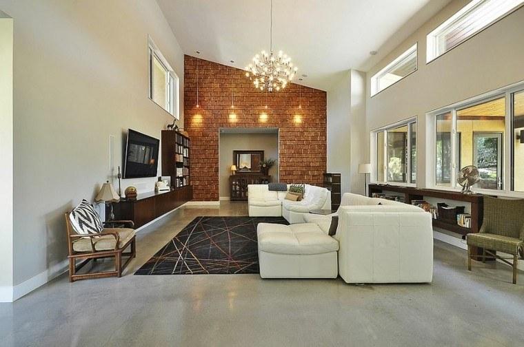 decoracion salon luces brillantes sofa blanca ideas