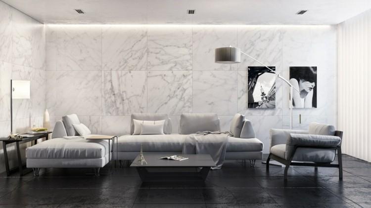 decoracion salones estilo lamparas marmol