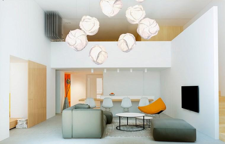 Decoracion salones e ideas para muebles modernos - Lamparas para salones modernos ...