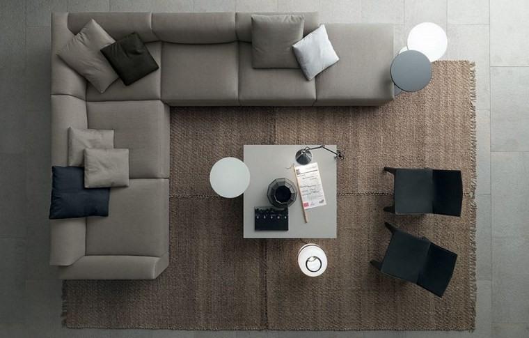 decoracion salones modernos alfombra preciosa ideas