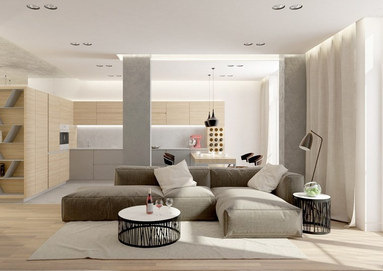 decoracion de salones modernos mesa redonda ideas