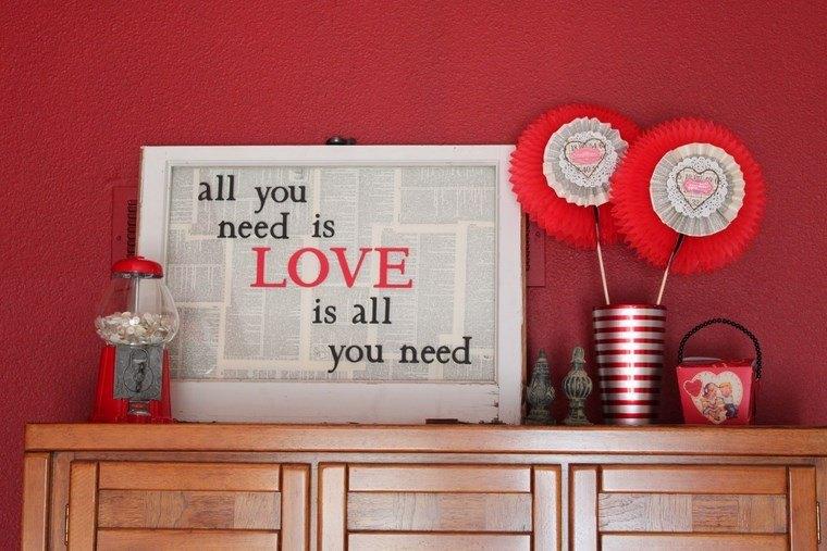Decora tu casa en san valentin con estas 38 ideas geniales for Decoracion para pared san valentin