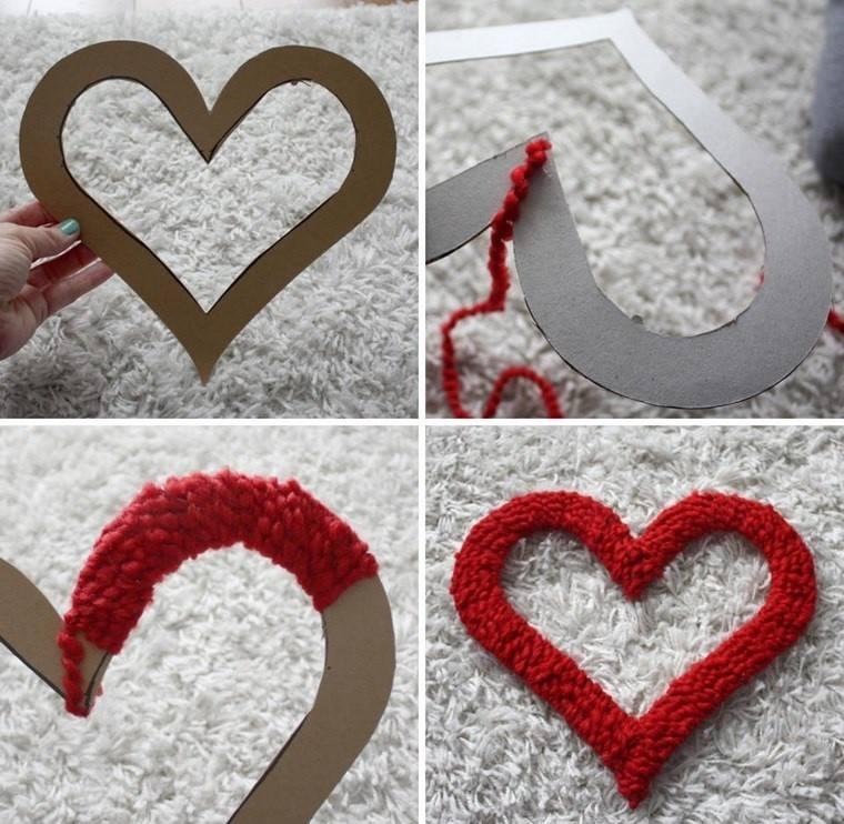 decoracion san valentin preciosa corazones tela ideas