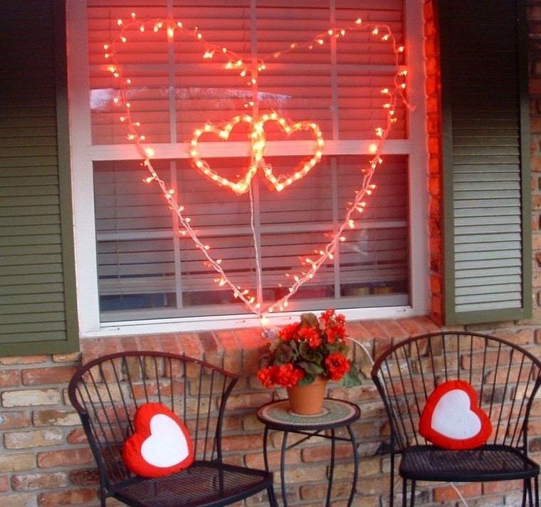decoracion san valentin preciosa entrada casa ideas
