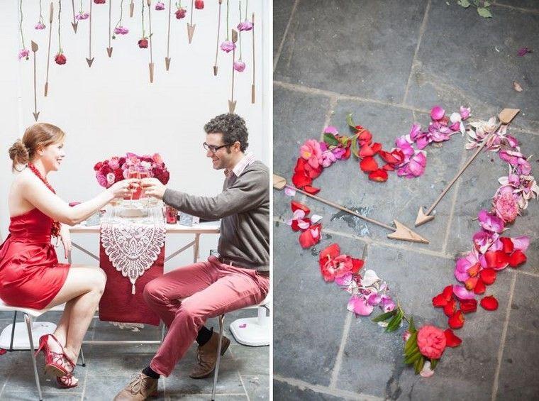 san valentin preciosa flores flechas ideas