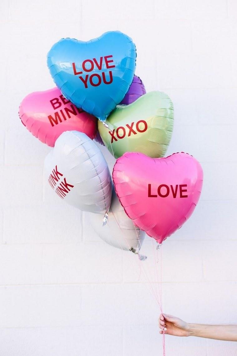 san valentin preciosa globos corazones ideas