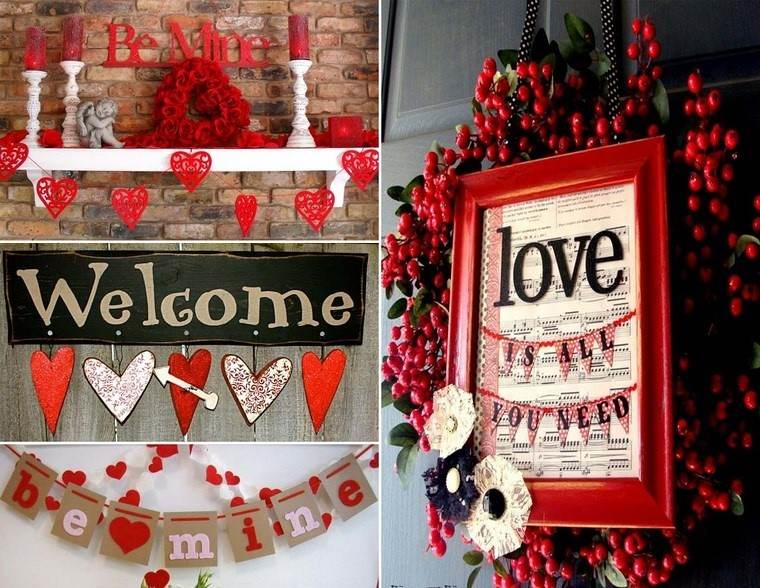 Decoracion san valentin 38 ideas para enamorar for Puertas decoradas del 14 de febrero