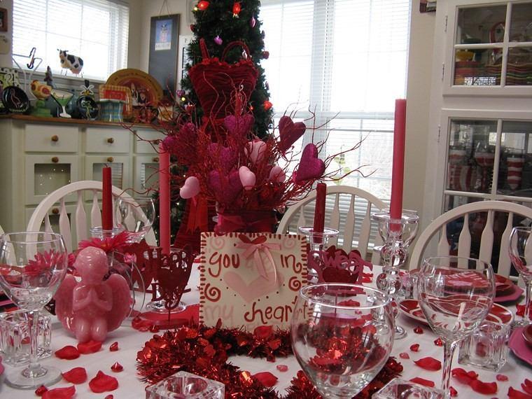 san valentin preciosa mesa decorada ideas