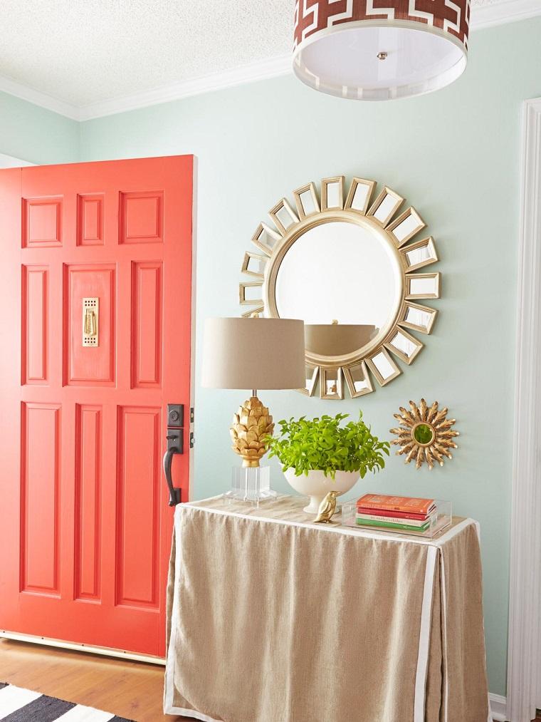 Ideas para decorar la entrada con una consola decoracion - Ideas para decorar una entrada de casa ...