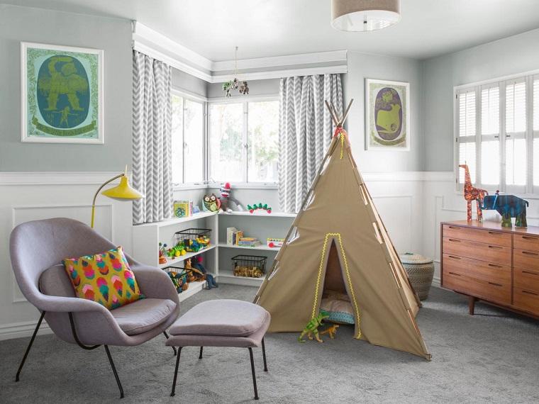 Decoracion vintage 35 ideas para transformar el hogar - Habitacion de ninos decoracion ...