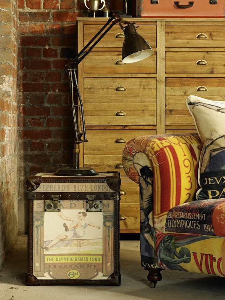 decoración vintage mesita lamapara originales ideas